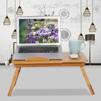 Bamboo Rack Shelf  Folding Lap Desk Standing Bed Desk Laptop Table