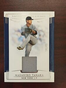 Masahiro Tanaka 2019 National Treasures Game Used Material #129 /49