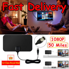 Mini 50 Miles Booster Active Indoor HD Digital TV Antenna Aerial HDTV Freeview