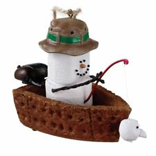 Angler Smores Fishing w Fish On Christmas Tree Ornament Midwest Cbk