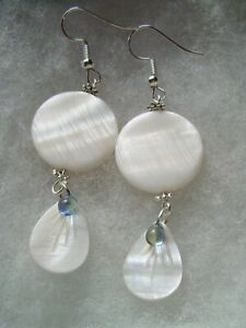 WHITE MOTHER OF PEARL EARRINGS