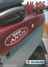 Scooter Brochure - Suzuki - An125 - 1995 (Dc411)