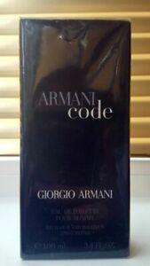 ORIGINAL vintage perfume Giorgio Armani Code Homme 100ml EDT Vaporisateur