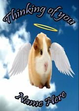 hamster Personalised Card Sympathy Thinking Of You A5 Codehd