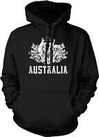 Australian Distressed Country Crest - Australia Aussie Hoodie Pullover
