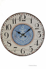 """13"""" Large Wood Vintage-Style Anchor Nautical Yacht Sea Wall Clock"""