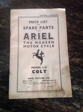 Modern Ariel 1951 Four Cylinder Motorcycle Price List of Spare Parts