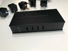 Powerjc 220V to 110V Travel Power Voltage Converter Adapter Black Uk/Au/Eu