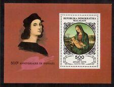 MALAGASY REPUBLIC 1983 SOUVENIR SHEET MINT NH # 665 RAPHAEL, 500th ANNIVERSARY !