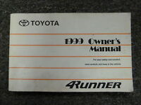 1999 Toyota 4Runner SUV Owner Owner's Manual User Guide Book SR5 Limited 4WD V6