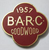 BARC GOODWOOD 1957 CAR GRILL BADGE EMBLEM LOGOS METAL ENAMLED CAR GRILL BADGE