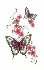!386-10.5x6 CM NiX 3D Temporary Tattoo Butterfly Wrist Women Girl Arm Tattoos