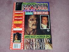 FANGORIA # 139  - Tom Cruise Interview with the Vampire, Free shipping in USA