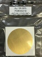 SEM Sputtering target Molybdenum 99.9/% pure 57mm diameter x 0.25 mm thick