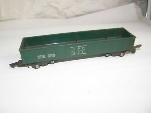 Vintage AMERICAN FLYER #631 Texas & Pacific T&P GREEN GONDOLA Link Couplers