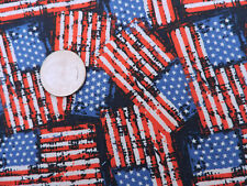 100% Cotton Fabric American Flags on Dark Navy - By the Yard
