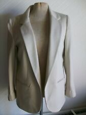 WALLIS Lined Ivory Long Sleeve Open Jacket with Stretch, Size 10