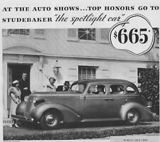 1936 Studebaker Automobile Vintage Print Ad Exciting 1937 Studebakers