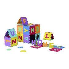 Tappeto Puzzle Gioco Bambini 36 Pezzi 26 Lettere dell'Alfabeto e Numeri da 0-9