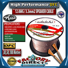 50M High End 12AWG 3.3mm2 100% Ultra Pure OFC Audio Cable Speaker WIRE 12 Gauge