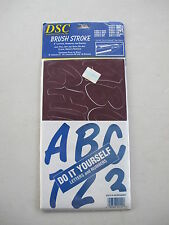BRUSH STROKE BS10-6 LETTERS NUMBERS SIGN MARKER STICKERS BURGUNDY BS10-6