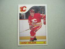 1985/86 O-PEE-CHEE NHL HOCKEY CARD #191 CAREY WILSON ROOKIE NM SHARP+ 85/86 OPC