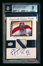 2009-10 EXQUISITE PATRICK ROY ROOKIE FLASHBACK PATCH AUTO CANADIENS #12/25 BGS 9
