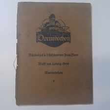 Dornroeschen-Sleeping Beauty-partitura vocal por Ludwig Groh, firmado 1924