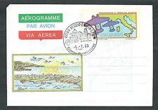 1983 ITALIA AEROGRAMMA TRASVOLATA ATLANTICA FDC - 3