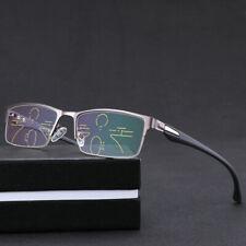 Anti-blue Multi-focus Progressive Half frame reading glasses +1.0 +1.25 to 3.0