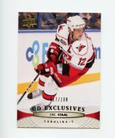11/12 UPPER DECK UD EXCLUSIVES #169 ERIC STAAL 017/100 HURRICANES *68367