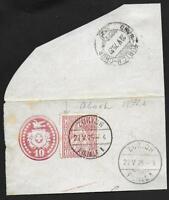 Switzerland stamps 1875 Zst ERROR 38.2.03 on fragment