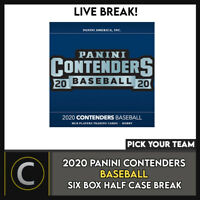 2020 PANINI CONTENDERS BASEBALL 6 BOX (HALF CASE) BREAK #A982 - PICK YOUR TEAM