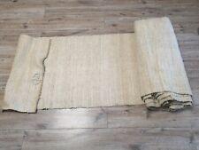 Antique homespun heavy hemp Fabric 1890s Beige 73x1300сm Great condition