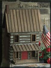 Primitive Log Cabin House Birdhouse Large Pattern/Plan WN172