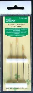 Clover Premium Sashico / Sashiko Needles. 3 Long Type Needles