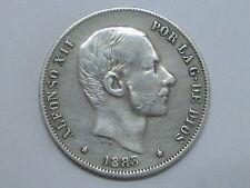 1883 ALFONSO XII MANILA PHILIPPINES 20 CENTAVOS DE PESO SPANISH SPAIN