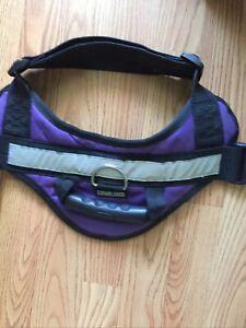 EXPAWLORER Big Dog Harness Soft Reflective No Pull Purple Size L 26-36 inch