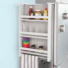 SoBuy® Étagère à épices Étagère à suspendre pour réfrigérateur, FRG150-W, FR