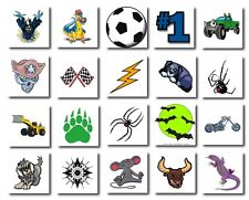 400 x Mixed Boys Temporary Tattoos, Great for Kids Parties, Fundraising, Schools