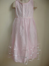 BONNIE JEAN GIRLS PAGEANT DRESS size 6 PINK EMBROIDERED LACE BEAUTIFUL