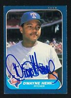 Dwayne Henry #562 signed autograph auto 1986 Fleer Baseball Trading Card