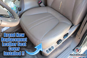 2000 2001 Ford Expedition Eddie Bauer -Driver Side Bottom Leather Seat Cover TAN