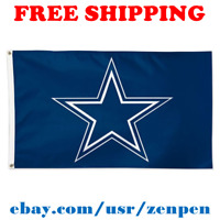 Deluxe Dallas Cowboys Team Logo Flag Banner 3x5 ft NFL Football 2019 NEW
