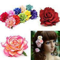 Bridal Rose Flower Hair Clip Hairpin Brooch Wedding Bridesmaid Party-Accessory~