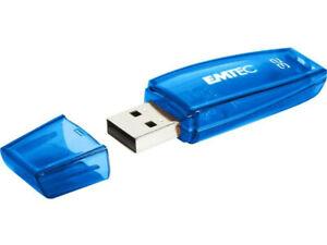 Clé USB 32GB EMTEC C410 (Bleu) USB 2.0     (2 ACHETES, LA 3ème OFFERTE)