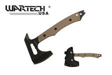 "Outdoor Rescue Wildlife Living 10"" Tactical Axe Hammer Textured Brown G10 Handle"