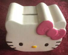 HELLO KITTY Ceramic decorative PIGGY BANK, Missing Bottom Plug - Nice !!