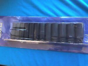 BRITOOL HALLMARK 3/8 Drive 12pce Impatto Profondo Presa Set 8mm-19mm