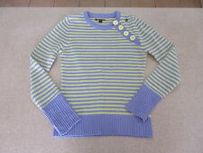 Women's VOLCOM Size 10 AU Knit Jumper Purple Yellow ExCon Striped Acrylic Ladies